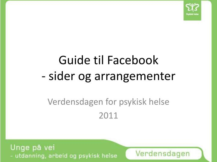 guide til facebook sider og arrangementer n.