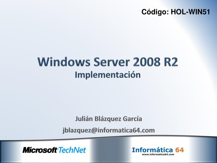 windows server 2008 r2 implementaci n n.