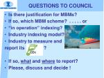 questions to council1