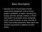 basic description