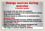 energy sources during exercise 2 aerobic system