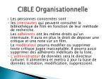 cible organisationnelle