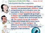 expressions verbes utiles pour vous exprimer dans une composition