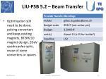 liu psb 5 2 beam transfer