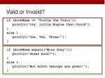 valid or invalid3