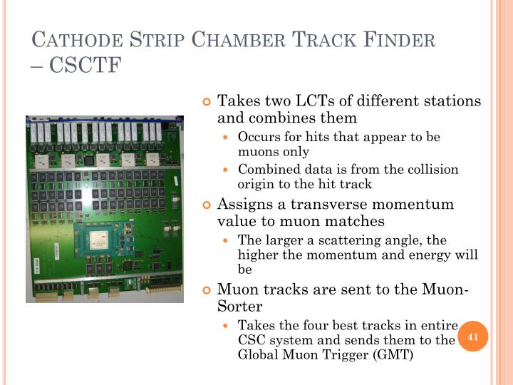 Cathode Strip Chamber Track Finder – CSCTF