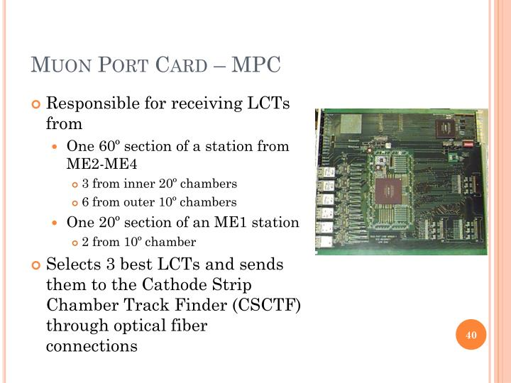 Muon Port Card – MPC