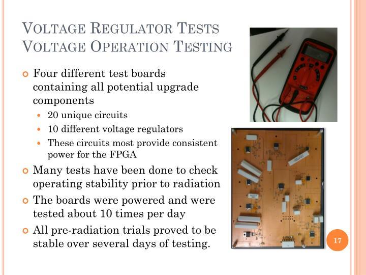 Voltage Regulator Tests