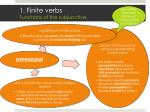 1 finite verbs functions of the subjunctive1