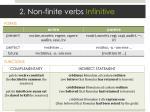 2 non finite verbs infinitive