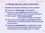 a problem solving strategy1
