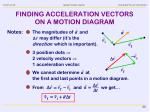 finding acceleration vectors on a motion diagram3