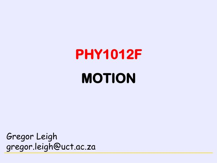 phy1012f motion n.