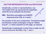 vector representation and notation