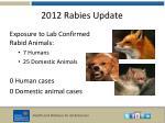 2012 rabies update