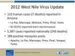 2012 west nile virus update