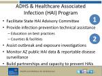 adhs healthcare associated infection hai program
