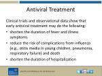 antiviral treatment