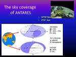 the sky coverage of antares
