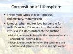 composition of lithosphere