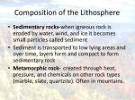 composition of the lithosphere