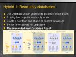 hybrid 1 read only databases