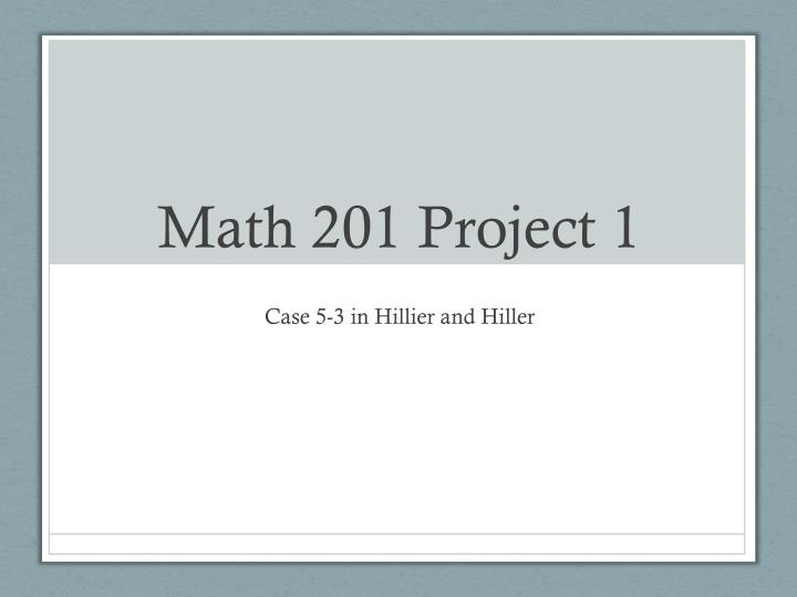 math 201 project 1 n.