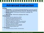 advanced instruction