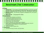 benchmark tier 1 instruction
