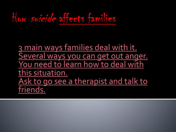 how suicide affects families n.
