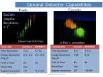 general detector capabilities