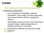 the research data interview process