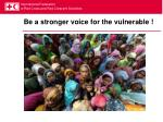 be a stronger voice for the vulnerable