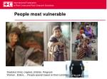 people most vulnerable