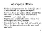 absorption effects