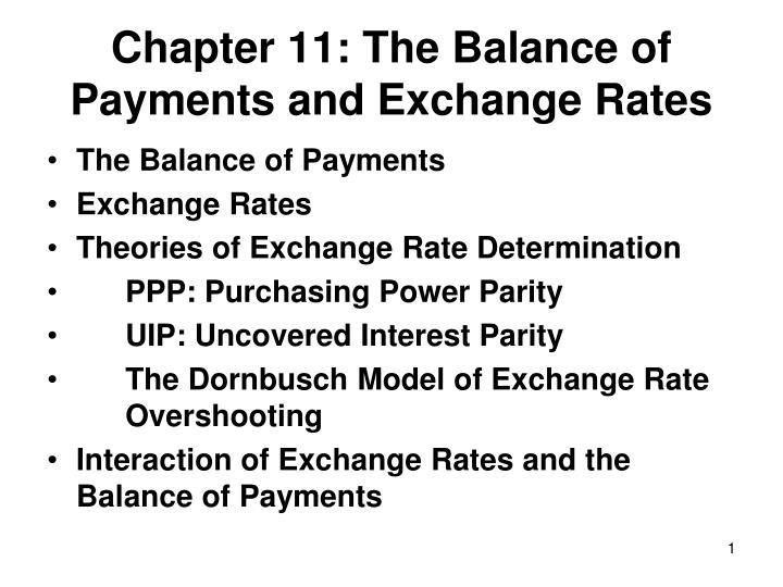 chapter 11 the balance of payments and exchange rates n.