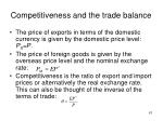 competitiveness and the trade balance