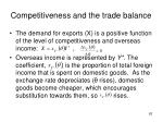 competitiveness and the trade balance1