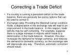 correcting a trade deficit