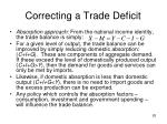 correcting a trade deficit1