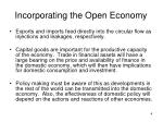 incorporating the open economy