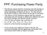 ppp purchasing power parity
