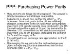 ppp purchasing power parity1