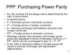 ppp purchasing power parity2