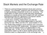 stock markets and the exchange rate1