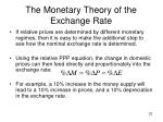 the monetary theory of the exchange rate2