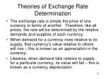 theories of exchange rate determination