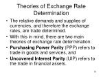 theories of exchange rate determination1