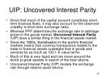 uip uncovered interest parity