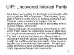 uip uncovered interest parity10
